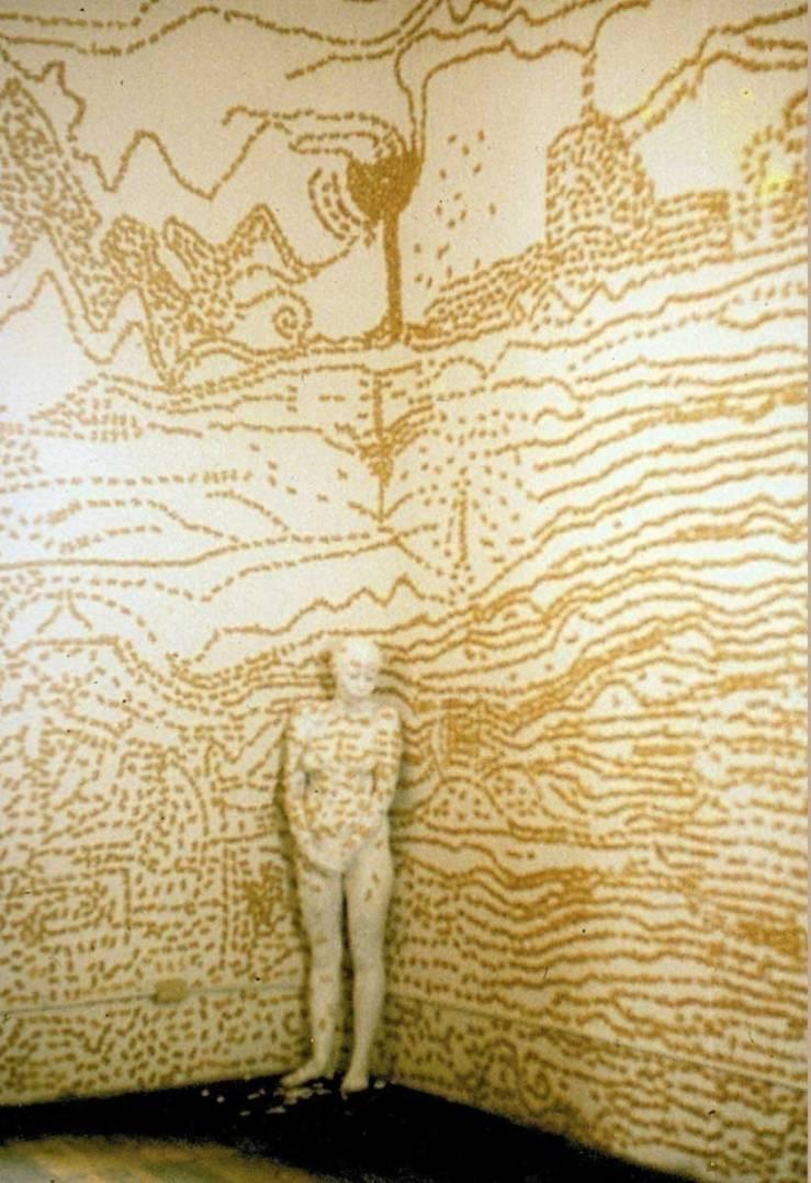 Piel,pared,galleta,-performance,1995(3)